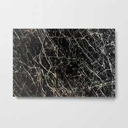 Abstract texture black and white Metal Print