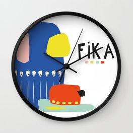 Fika Collage Wall Clock