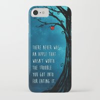 good omens iPhone & iPod Cases featuring Good Omens - The Apple by saehral