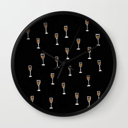 More Champagne Please Wall Clock