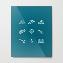 Outdoor Icons Metal Print