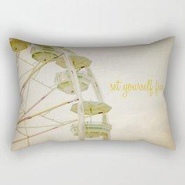 Set Yourself Free Rectangular Pillow