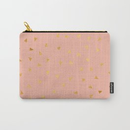 Millennial Pink Gold Pastel Pattern Carry-All Pouch