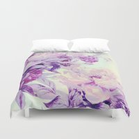 pastel Duvet Covers featuring pastel bouquet by clemm