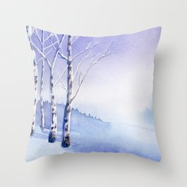 Winter scenery #5 Throw Pillow