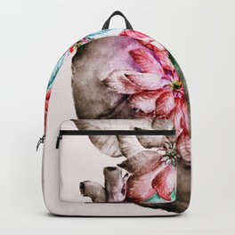 Christmas in my Heart - focal black and white variantion Backpack