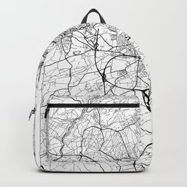 Luxembourg Map White Backpack