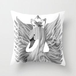 The Queen's Bird Throw Pillow
