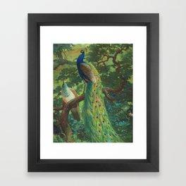 Peacock Chinoiserie Framed Art Print