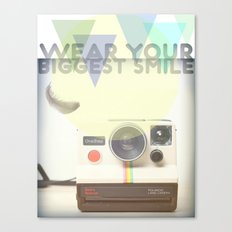 WEAR YOUR BIGGEST SMILE Canvas Print
