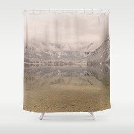 Lake Bohinj Reflection Shower Curtain
