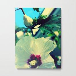 tiki flower with bud ~ flower photography Metal Print