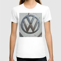 vw bus T-shirts featuring Rusty VW Bus Symbol by wildVWflower