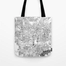 Las Vegas White Map Tote Bag