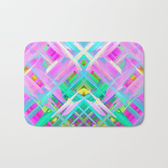 Colorful digital art splashing G473 Bath Mat