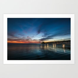Newport Beach Sunet. Art Print
