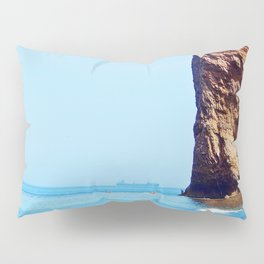 Man and Perce Rock Panoramic Pillow Sham