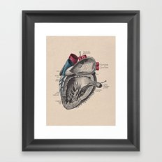 My Heart Beats for You Framed Art Print