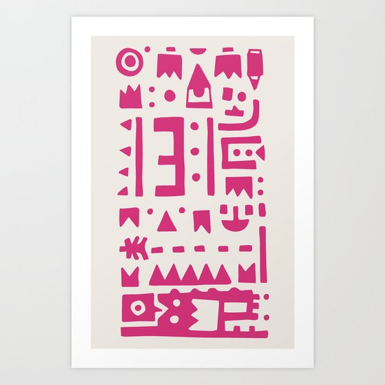 Pattern v8 Art Print