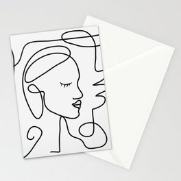 One Line Portrait 1 Stationery Cards