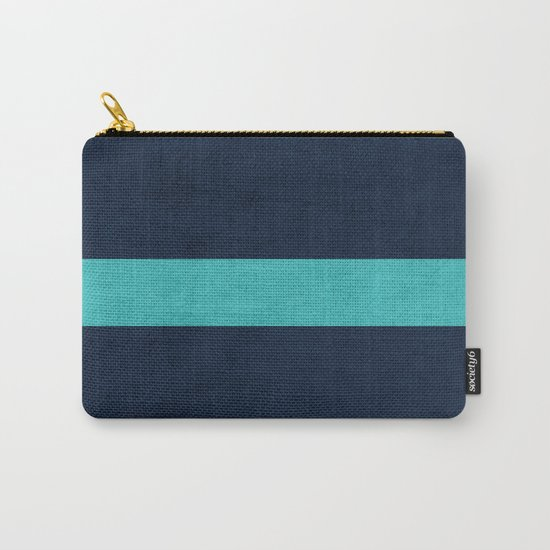 classic - navy and aqua Carry-All Pouch