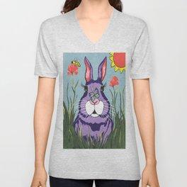Funny Bunny Unisex V-Neck