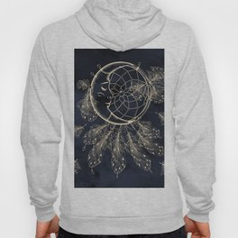GOLDEN MOON IN DARK NIGHT Hoody