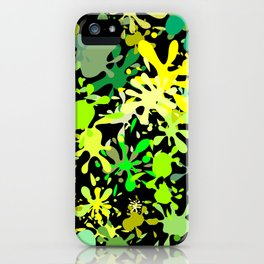 Green Ink Blots and Stains iPhone Case