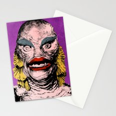 The Gorgeous Gill Man from the Black Lagoon Stationery Cards