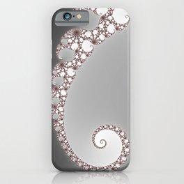 Simple Spiral Grey - Fractal Art  iPhone Case
