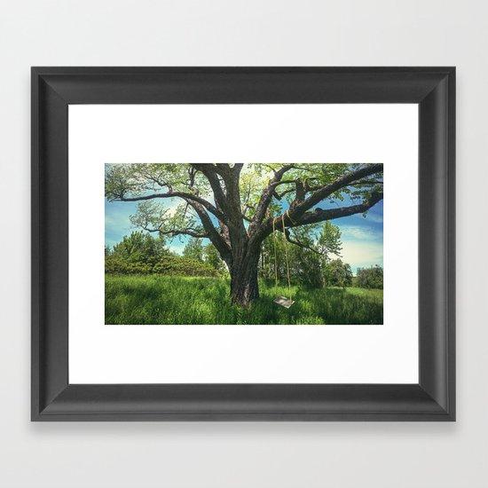 Swing the Summer Away Framed Art Print