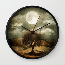 Once upon a time... The lone tree. Wall Clock