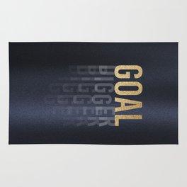 Goal Digger - Gold on Black Rug