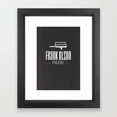 Frank Olson Park Framed Art Print