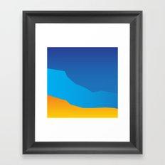 Land Framed Art Print