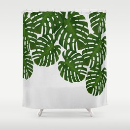 Monstera Leaf I Shower Curtain