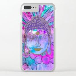 Neon Buddha Clear iPhone Case
