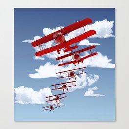 Retro Biplanes Canvas Print