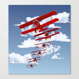 Retro Biplanes Canvas Print