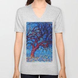The Red Tree - Piet Mondrian Unisex V-Neck