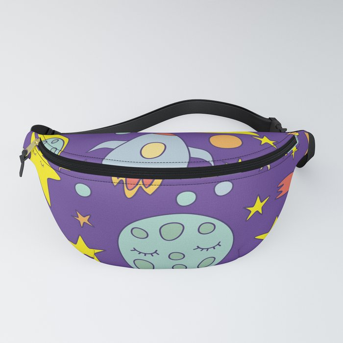 Space Doodle Pattern Fanny Pack
