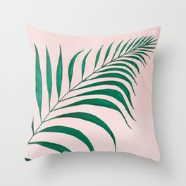 Tropical Palm Leaf #3 | Watercolor Painting Throw Pillow