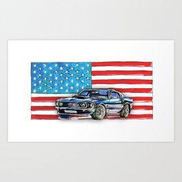 Ford Mustang Boss 429 Art Print