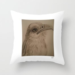 The Secretary Bird Throw Pillow