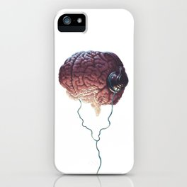 Human Brain With Head Phones iPhone Case