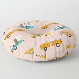 Retro Road Trip – Pink Palette Floor Pillow