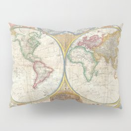 A General Map of the World - Laurie 1794 Pillow Sham
