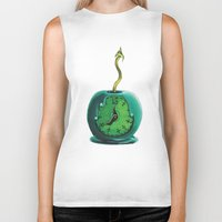 haunted mansion Biker Tanks featuring Haunted Mansion 13th Hour Clock Apple by ArtisticAtrocities