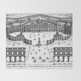 Veüe du Palais de Monsieur l'Electeur Palatin pour batir a Manheim du dessein du Sr. Marot 1670 Throw Blanket