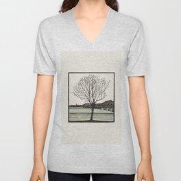 Julie de Graas, Bald Tree, 1919 Unisex V-Neck